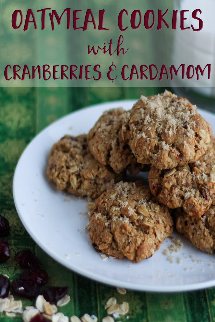 Oatmeal Cookies with Cranberries and Cardamom