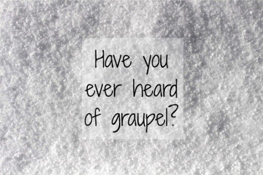 Have you ever heard of graupel? It's a special kind of snow.